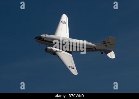 Douglas C-47  Dakota Aircraft in Royal New Zealand Airforce livery. - Stock Image