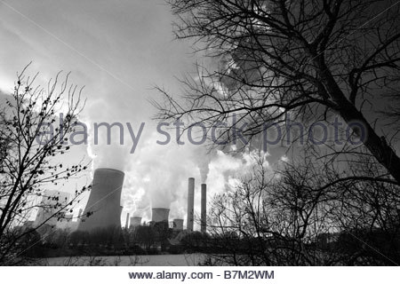 Lignite-fired power plant Bergheim-Niederaussem, operated by RWE Power AG, electricity production - Stock Image