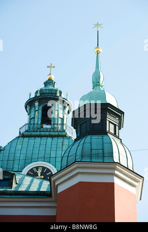 Sweden, Stockholm, spires of Sankt Jakobs kyrka (Saint James's church) - Stock-Bilder