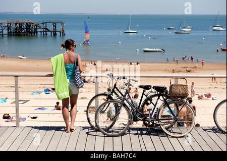 France vendee ile de noirmoutier stock photos france - Chaises de plage ...