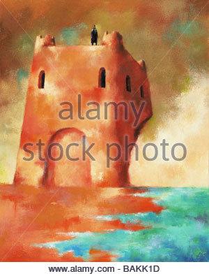 Castle by the Sea - Stock-Bilder