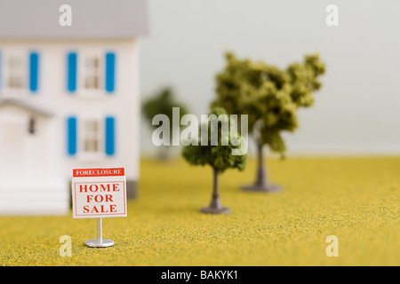 Foreclosure house sale - Stock Image