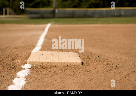 Down the line - baseball concepts - Stock Image