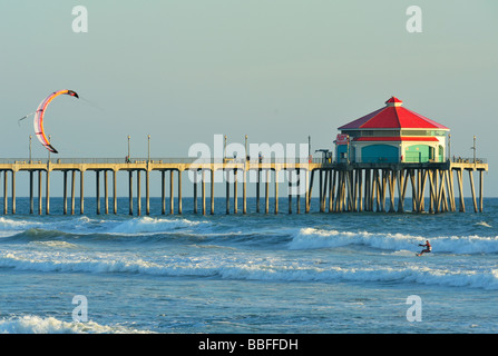 Pier and dinner stock photos pier and dinner stock for Huntington beach pier fishing