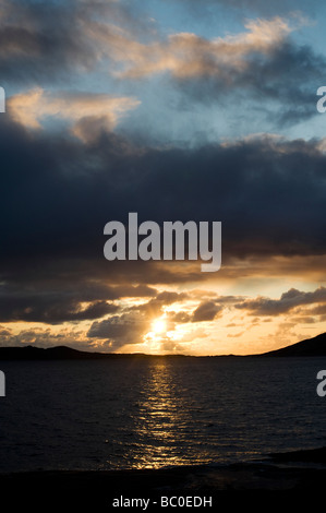 Sunset over Sound of Taransay , Isle of Harris, Outer Hebrides, Scotland - Stock-Bilder