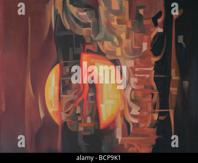 Crucifixion, Abstract art - Stock Image