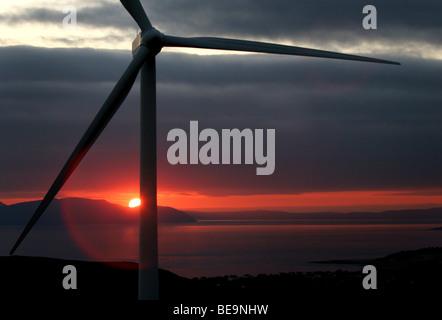 Wind Farm  - Ardrossan Scotland - Stock Image