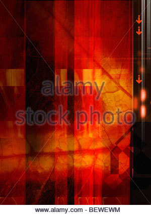 Abstract leaf design - Stock Image