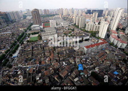 Old houses in  Hongkou District, Shanghai, China. 08-Oct-2009 - Stock Image