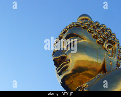 Northern Thailand - Large Buddha statue in the Golden Triangle - Stock Image