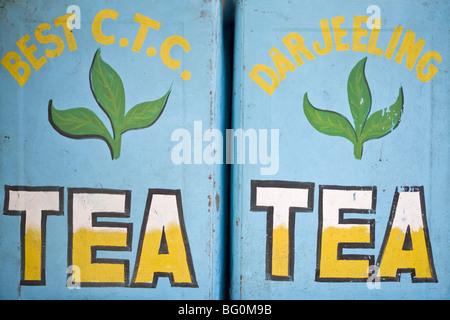 Tea for sale, Mahatma Gandhi Marg (MG Marg), Gangtok's main shopping street, Gangtok, Sikkim, India, Asia - Stock-Bilder