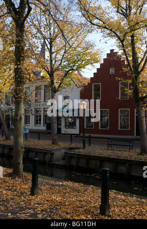 Houses along the canal, Edam, Netherlands, Europe - Stock Image