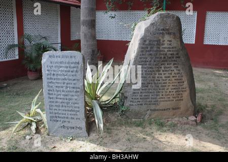 raj ghat literature writings Gandhiji mahatma gandhi - Stock Image