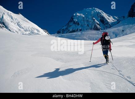 Glacier travel, Aoraki/Mount Cook, New Zealand - Stock Image
