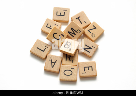 Wooden letters - Stock Image