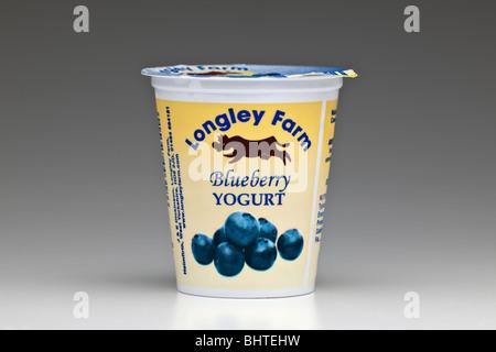 Longley farm Blueberry Yogurt - Stock Image