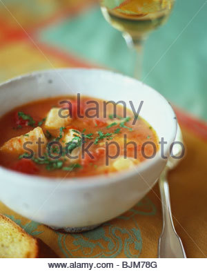 Bowl of Fish Stew - Stock Image