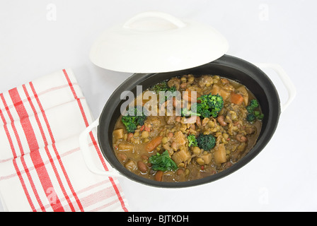 Vegetarian bean stew - Stock Image