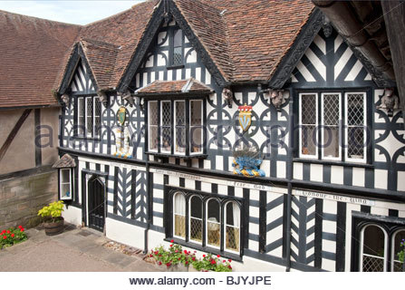 Image of Lord Leycester Hospital in Warwick a medieval county town of Warwickshire, England. - Stock Image