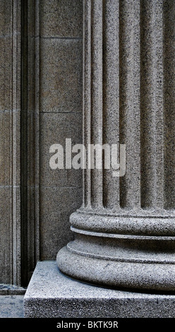 Close-up of a strong supportive architectural pillar base. - Stock-Bilder