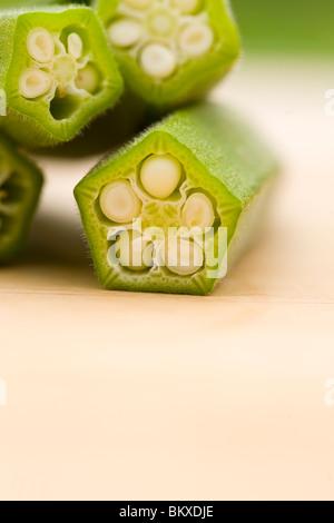 Okra - Lady's finger - Stock-Bilder
