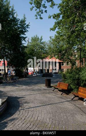 Portugal park Montreal located on boulevard Saint Laurent - Stock Image