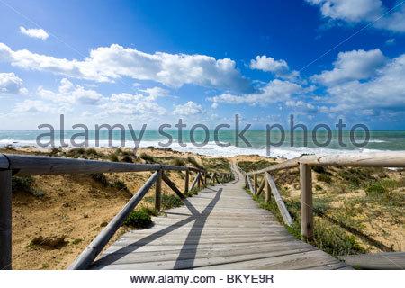 Beach at Cabo de Trafalgar, Province Cadiz, Andalucia, Spain - Stock Image