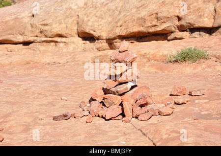 Cairn, Arches National Park, Utah, USA - Stock Image