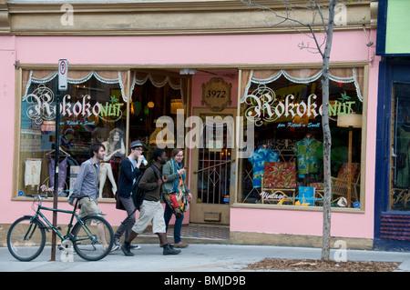 Shopping Boulevard Saint Laurent Montreal - Stock Image
