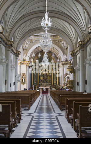 Santo Domingo Convent Church in Lima Centro District, Lima, Peru - Stock Image