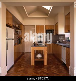 parquet flooring in kitchen extension stock photos & parquet