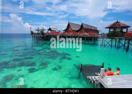 A view from the Kapalai Resort of Semporna Sabah, Malaysia - Stock Image