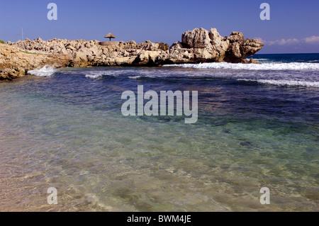 Haiti Labadee Rocky coast Caribbean Bay Landscape Ocean Sea - Stock Image