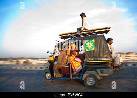 Auto-rickshaw, Uttar Pradesh, India - Stock-Bilder