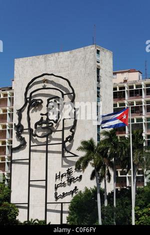 Placa de la Revolucion Square, Che Guevara , Havanna, Cuba, Caribbean - Stock-Bilder