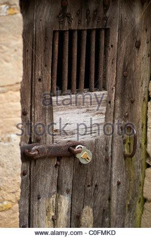 Pad locked gate on a door with bars on - Stock Image & Locked Door Security Lock Stock Photos \u0026 Locked Door Security Lock ... Pezcame.Com