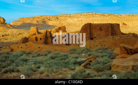Pueblo Bonito in in Chaco Culture National Historical Park - Stock-Bilder