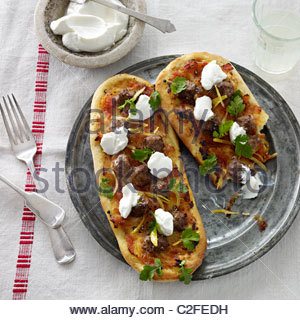 home made pizza slices - Stock Image