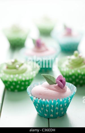romantic cupcakes - Stock-Bilder