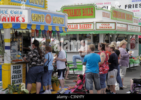 Florida Plant City Florida Strawberry Festival annual event carnival food - Stock Image