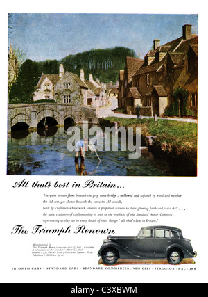 Advertisement for the Triumph Motor Company's car the Triump Renown, from The Festival of Britain guide, published - Stock-Bilder