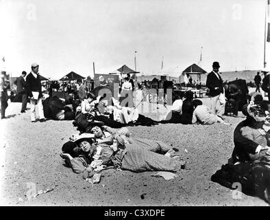 Yarmouth Sands, photo Paul Martin.Yarmouth Sands, England, late 19th century - Stock-Bilder