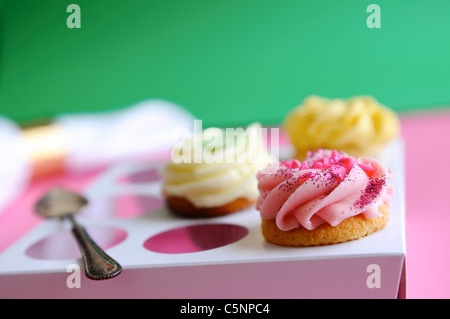Assorted cupcakes - Stock Image