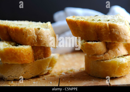 Garlic bread - Stock Image