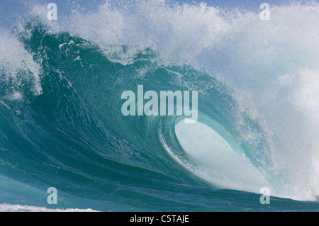 USA, Hawaii, Oahu, Big wave, close-up - Stock-Bilder