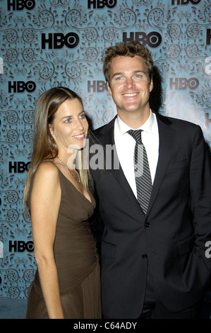 Caroline Fentress, Chris O'Donnell at arrivals for HBO Post-Emmy Party, The Plaza at the Pacific Design Center, - Stock-Bilder