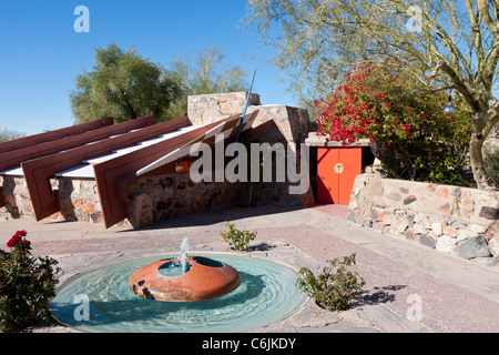 Taliesin West, Frank Lloyd Wright's Arizona home, Scottsdale, Phoenix, USA - Stock-Bilder