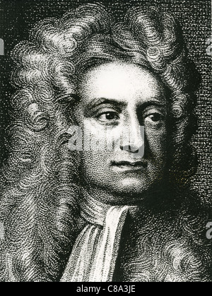 ISAAC NEWTON (1642-1727) English physicist, mathematician and astronomer - Stock-Bilder