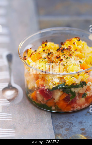 Bulghour and vegetable pie - Stock Image