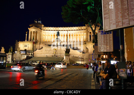 The national memorial to Vittorio Emanuele II in Rome, Italy. - Stock Image